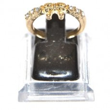 Ring met strass strikje