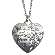 Lange ketting mother daughter zilver