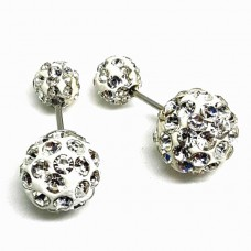 Strass double dots - 10 mm